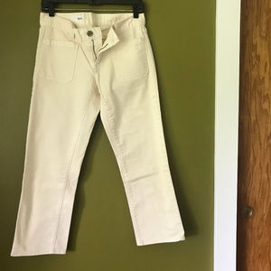 Gap Natural Color Straight Leg Ankle Jean